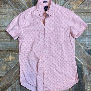 J Crew Flex washed polka dot slim shirt. Small.